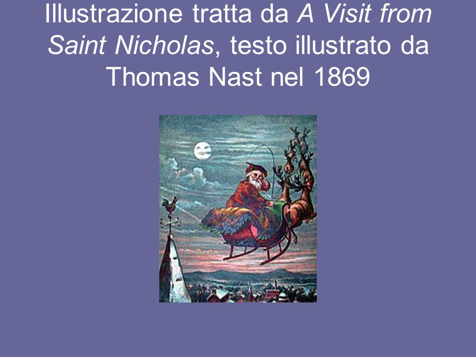 Illustrazione tratta da A Visit from Saint Nicholas, testo illustrato da Thomas Nast nel 1869