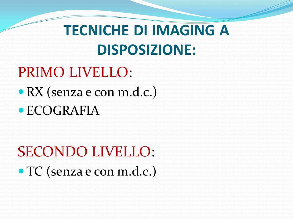 TECNICHE DI IMAGING A DISPOSIZIONE: