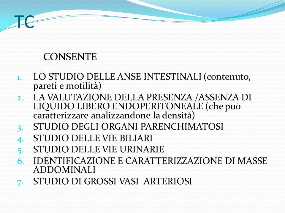 TC CONSENTE. LO STUDIO DELLE ANSE INTESTINALI (contenuto, pareti e motilità)