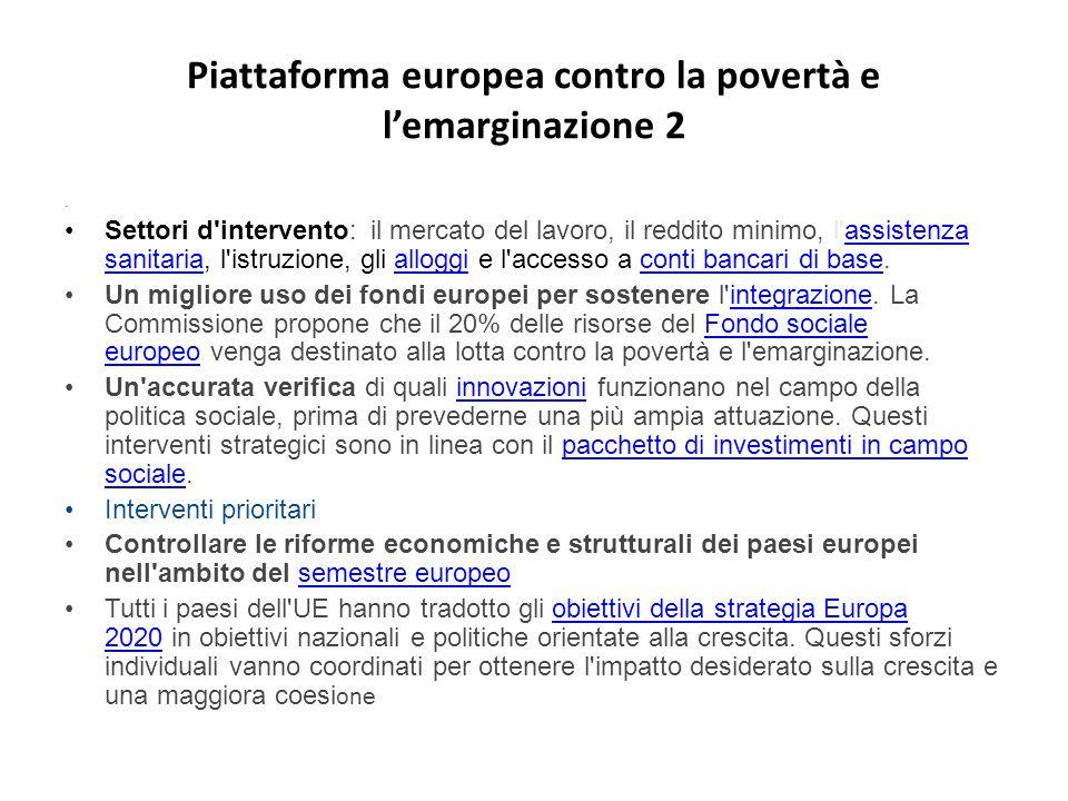 Piattaforma europea contro la povertà e l'emarginazione 2