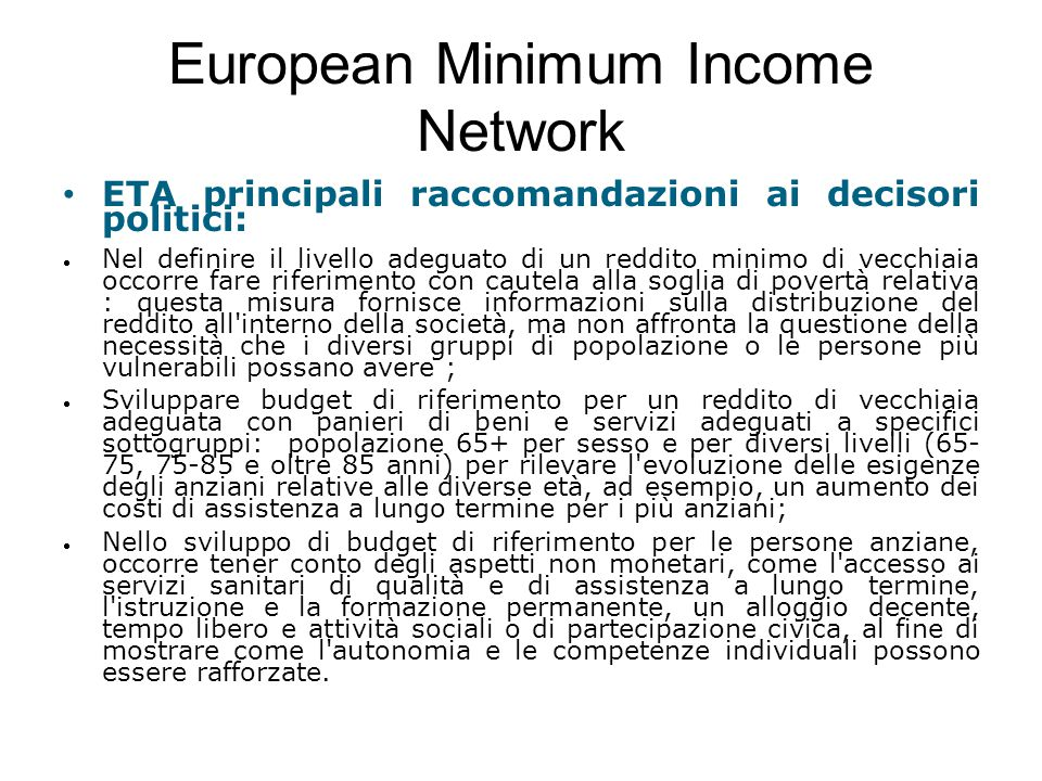 European Minimum Income Network