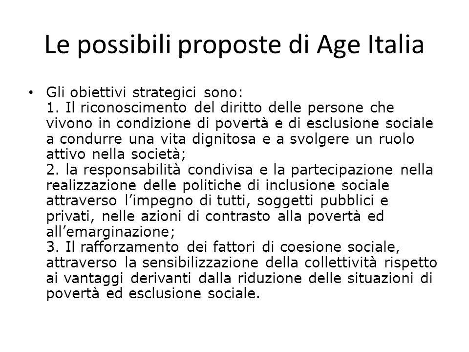 Le possibili proposte di Age Italia