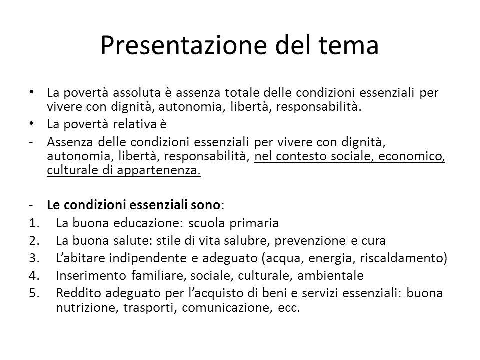 Presentazione del tema