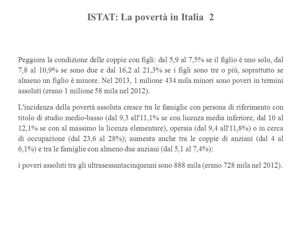 ISTAT: La povertà in Italia 2