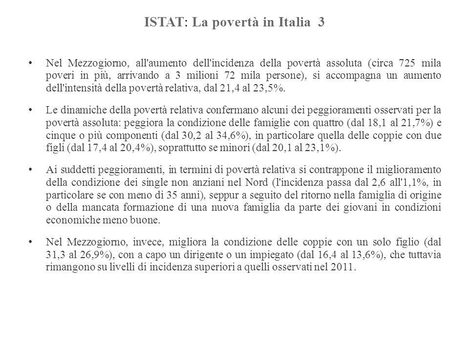 ISTAT: La povertà in Italia 3