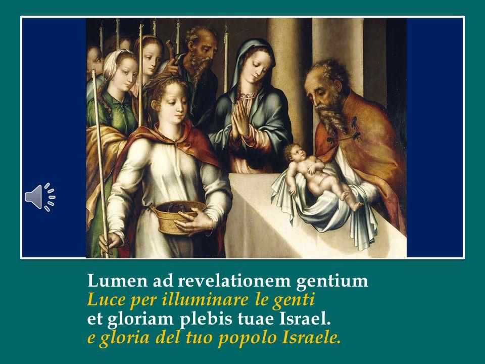 Lumen ad revelationem gentium Luce per illuminare le genti et gloriam plebis tuae Israel.