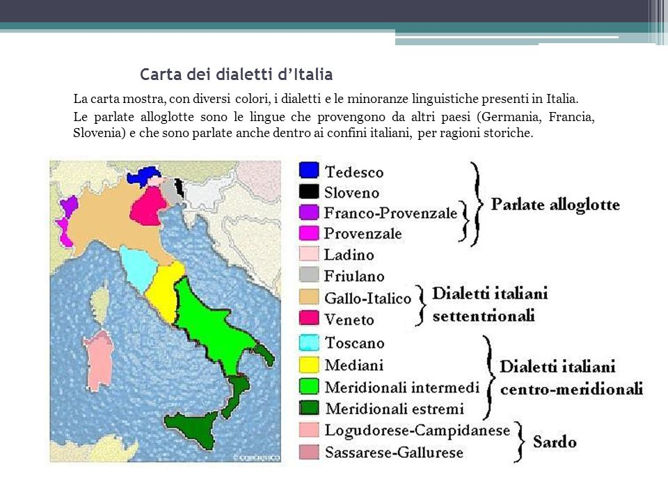 Carta dei dialetti d'Italia
