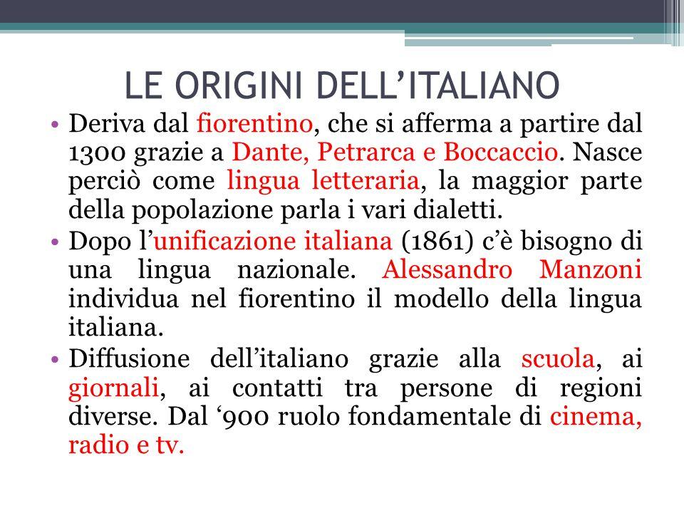 LE ORIGINI DELL'ITALIANO