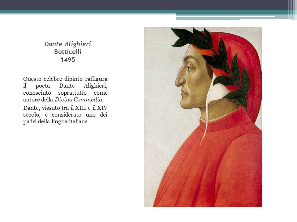 Dante Alighieri Botticelli 1495