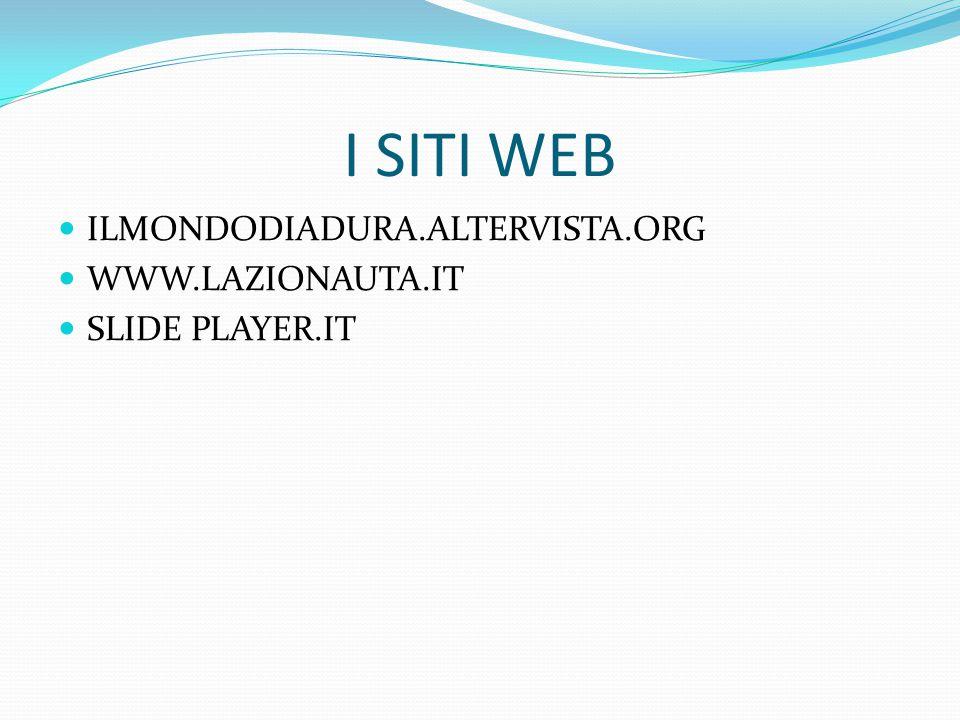 I SITI WEB ILMONDODIADURA.ALTERVISTA.ORG WWW.LAZIONAUTA.IT