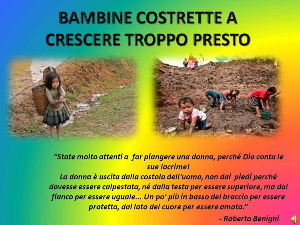 BAMBINE COSTRETTE A CRESCERE TROPPO PRESTO