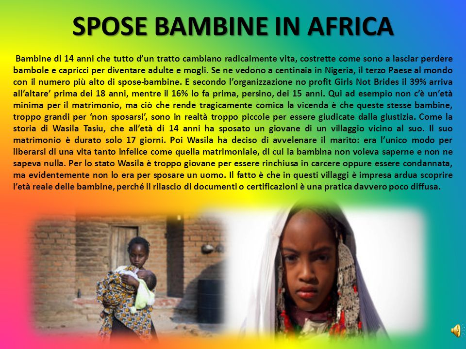 SPOSE BAMBINE IN AFRICA