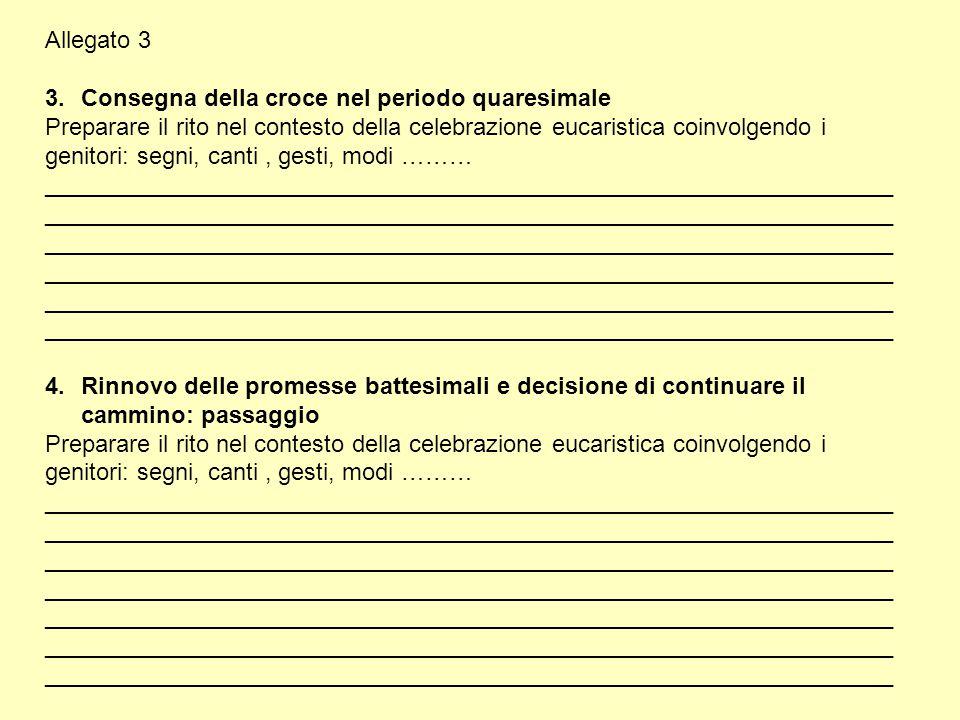 Allegato 3 Consegna della croce nel periodo quaresimale.