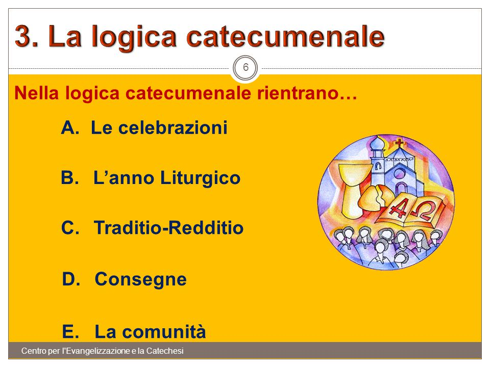 3. La logica catecumenale