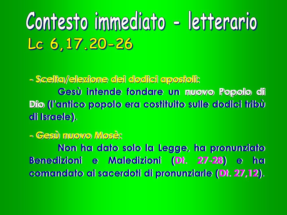 Contesto immediato - letterario