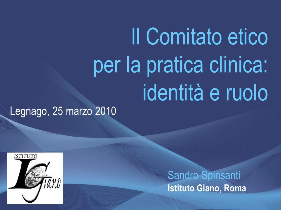 Il Comitato etico per la pratica clinica: identità e ruolo