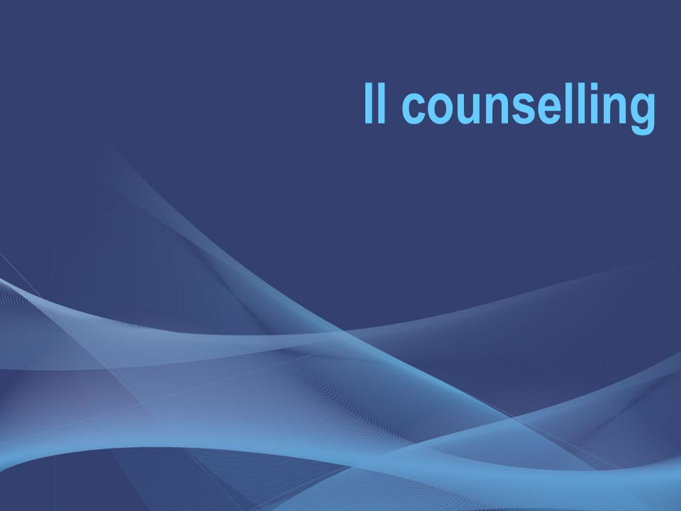 Il counselling