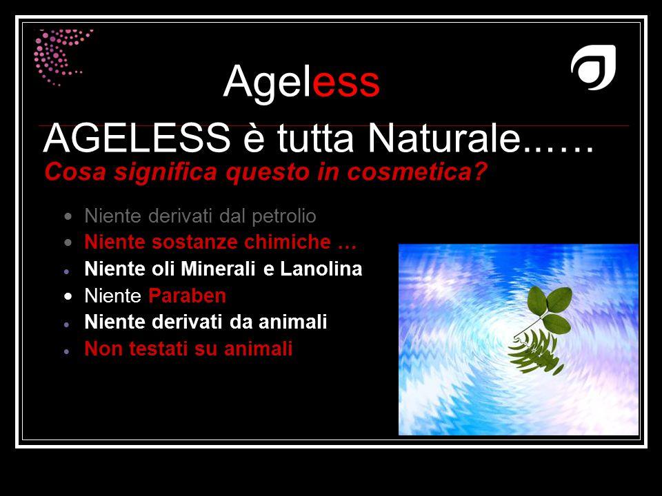 AGELESS è tutta Naturale..…. Cosa significa questo in cosmetica