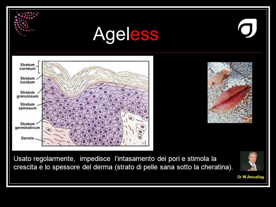 Usato regolarmente, impedisce l'intasamento dei pori e stimola la crescita e lo spessore del derma (strato di pelle sana sotto la cheratina).