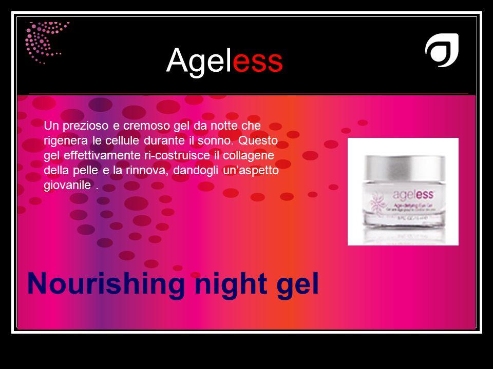 Un prezioso e cremoso gel da notte che rigenera le cellule durante il sonno. Questo gel effettivamente ri-costruisce il collagene della pelle e la rinnova, dandogli un'aspetto giovanile .