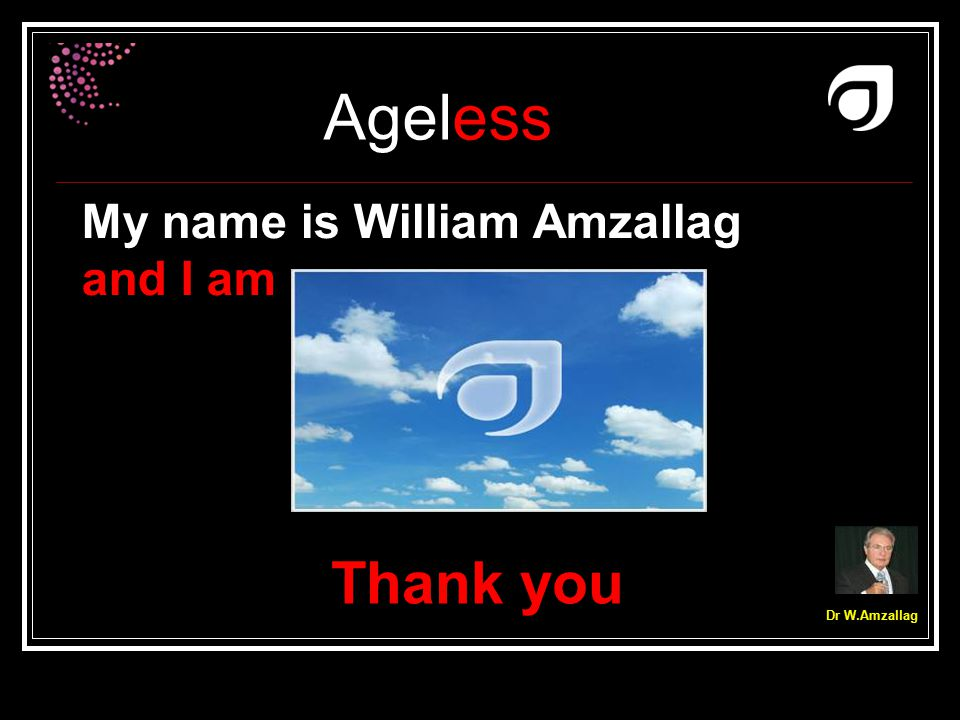 My name is William Amzallag and I am