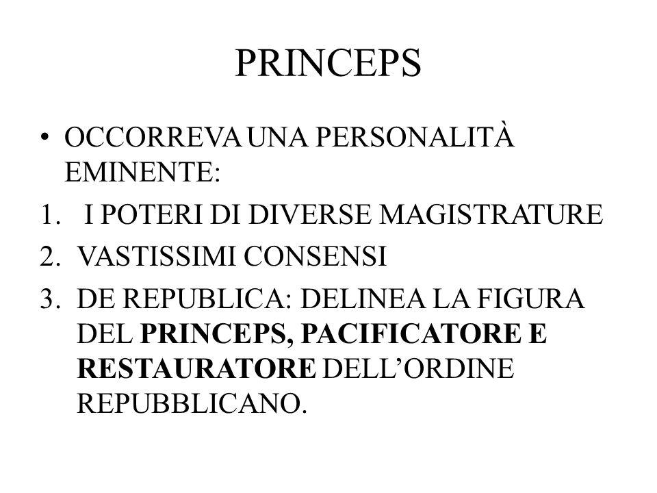 PRINCEPS OCCORREVA UNA PERSONALITÀ EMINENTE: