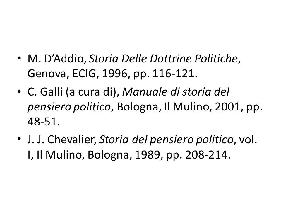 M. D'Addio, Storia Delle Dottrine Politiche, Genova, ECIG, 1996, pp