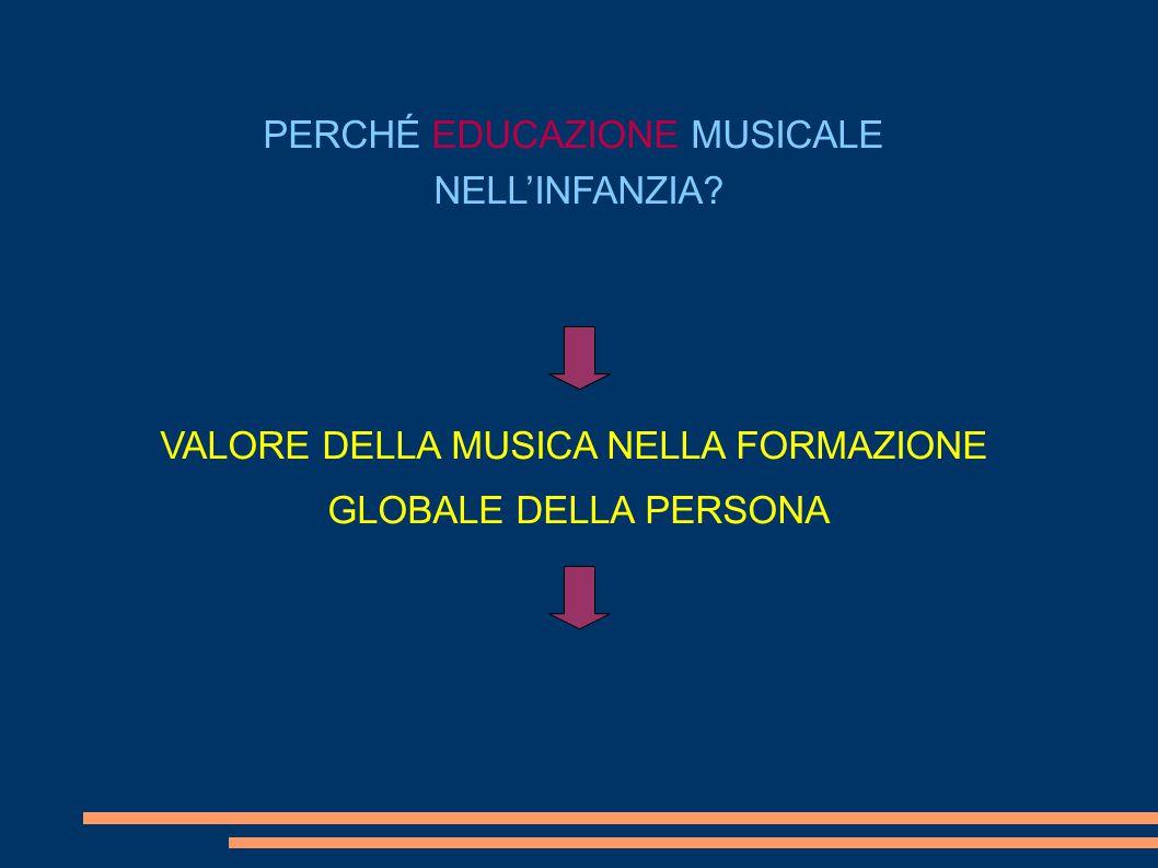 PERCHÉ EDUCAZIONE MUSICALE NELL'INFANZIA