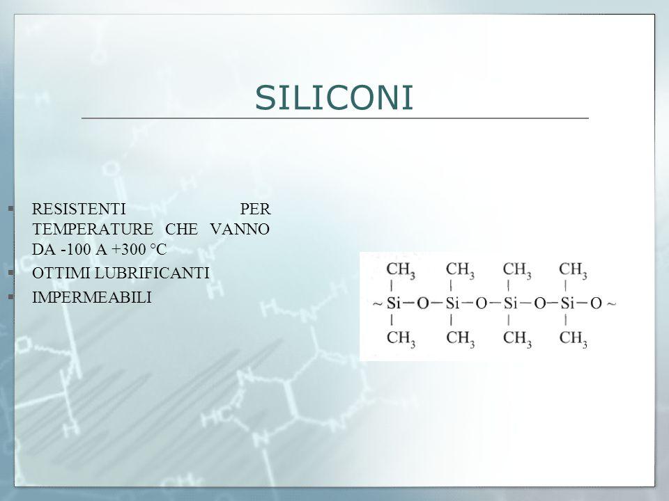 SILICONI RESISTENTI PER TEMPERATURE CHE VANNO DA -100 A +300 °C