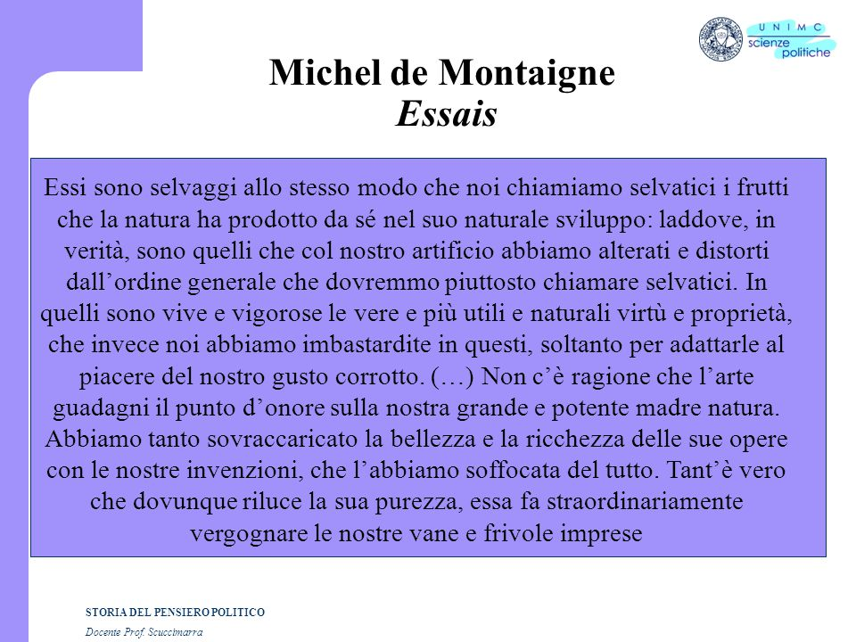 Michel de Montaigne Essais