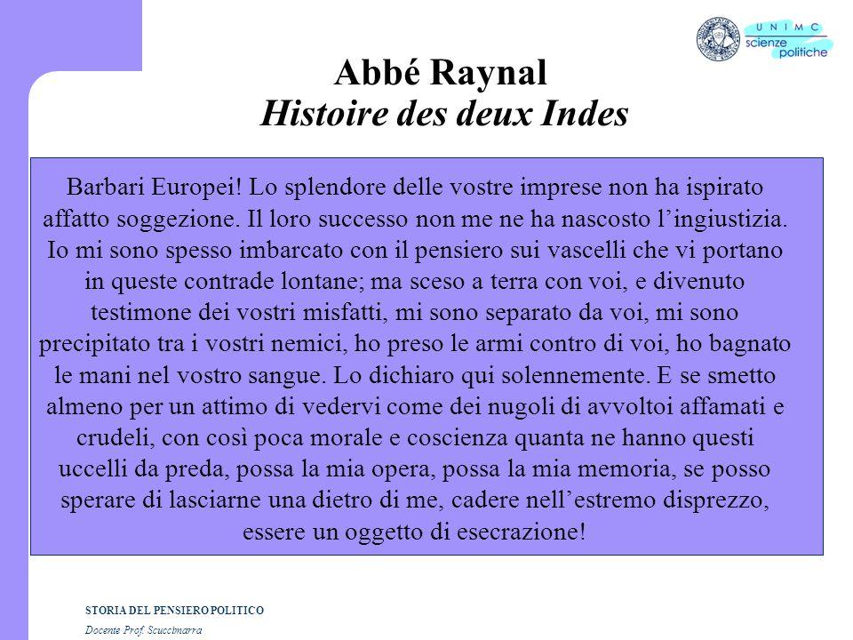 Abbé Raynal Histoire des deux Indes