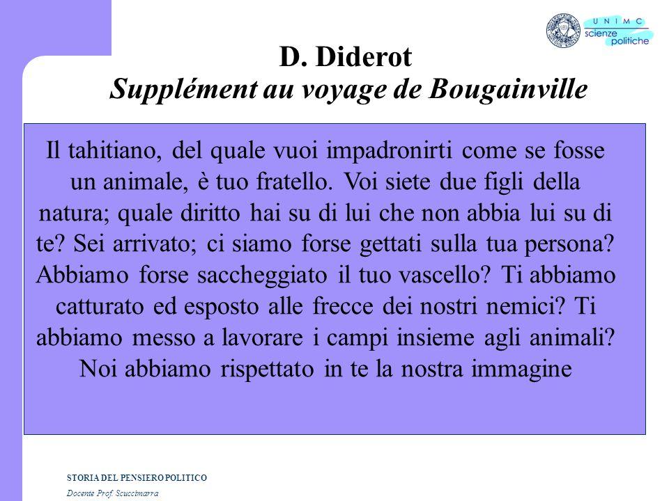 D. Diderot Supplément au voyage de Bougainville