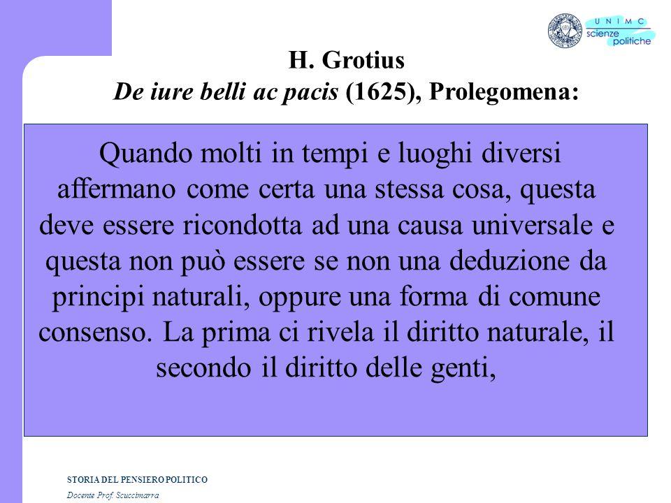 De iure belli ac pacis (1625), Prolegomena: