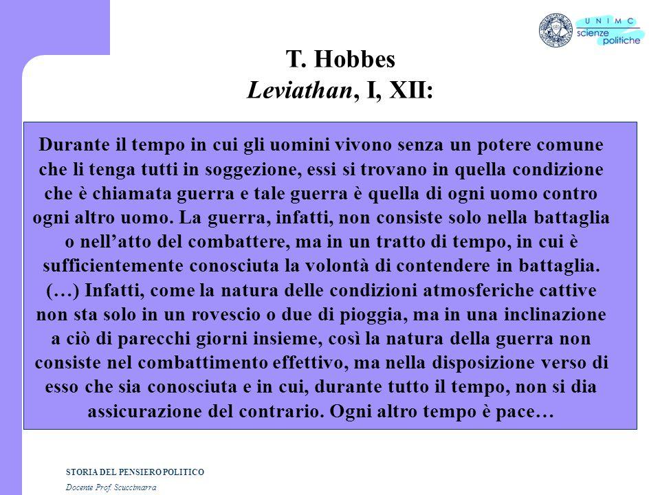 T. Hobbes Leviathan, I, XII: