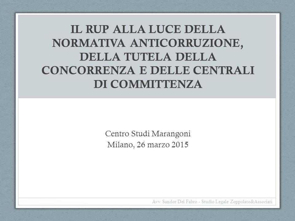 Centro Studi Marangoni Milano, 26 marzo 2015