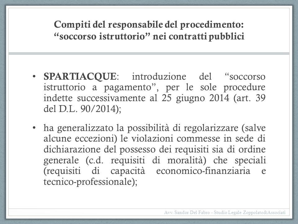 Compiti del responsabile del procedimento: soccorso istruttorio nei contratti pubblici