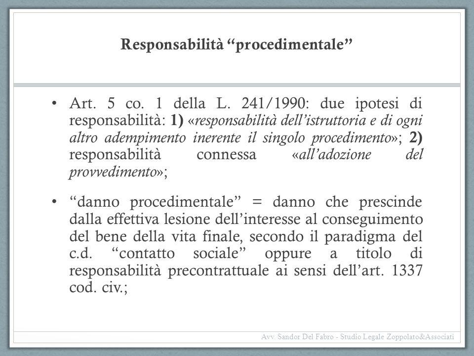 Responsabilità procedimentale