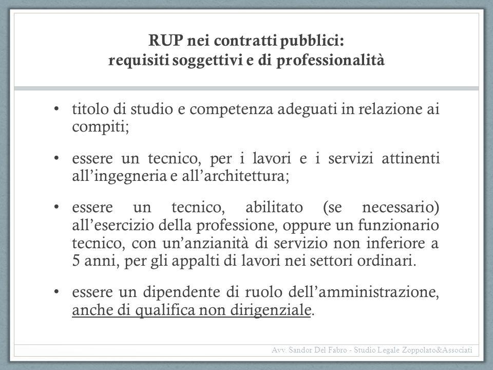 RUP nei contratti pubblici: requisiti soggettivi e di professionalità