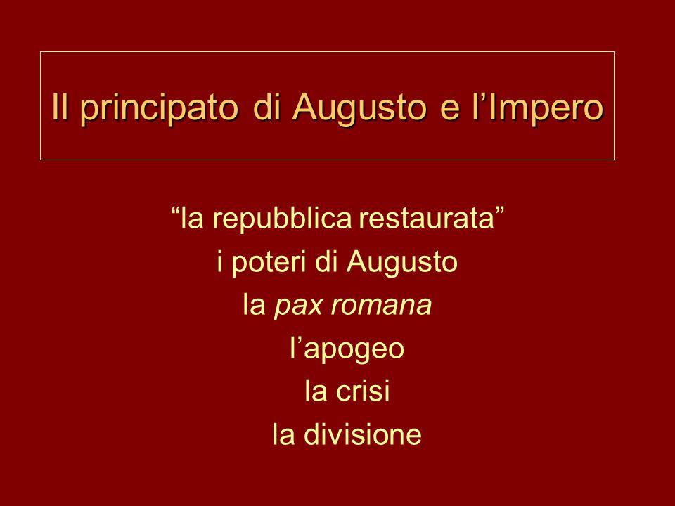 Il principato di Augusto e l'Impero