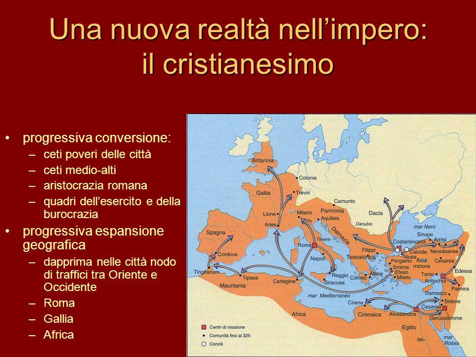 Una nuova realtà nell'impero: il cristianesimo