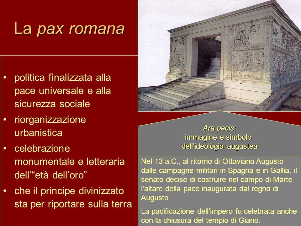 immagine e simbolo dell'ideologia augustea