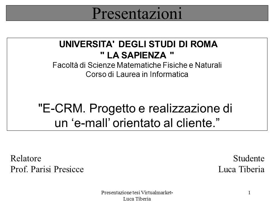 Presentazioni E-CRM. Progetto e realizzazione di