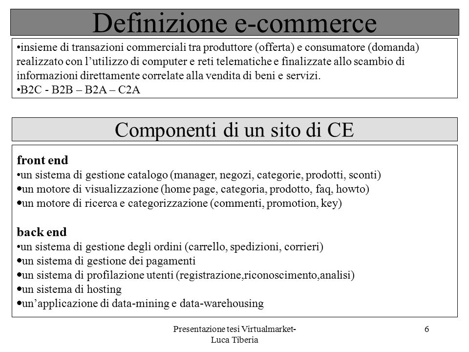 Definizione e-commerce