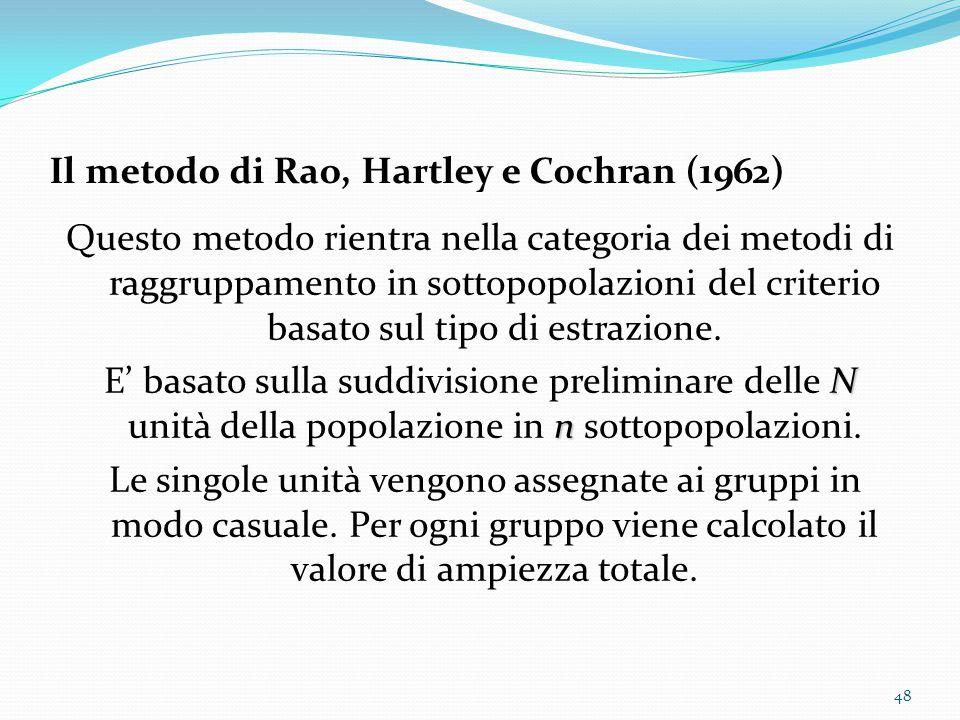 Il metodo di Rao, Hartley e Cochran (1962)