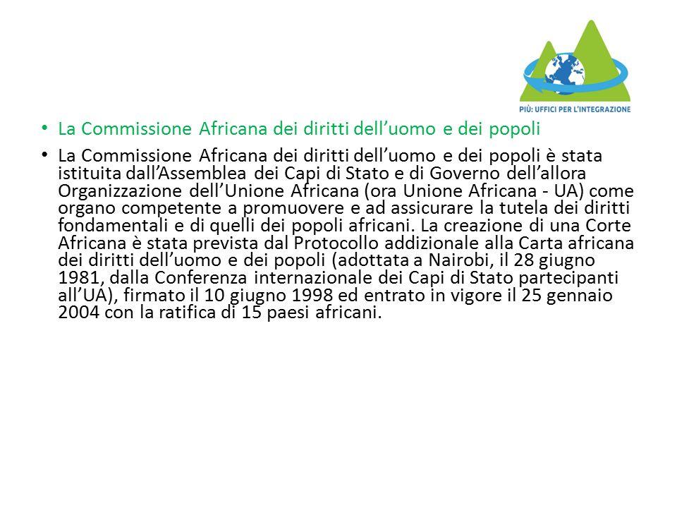 La Commissione Africana dei diritti dell'uomo e dei popoli