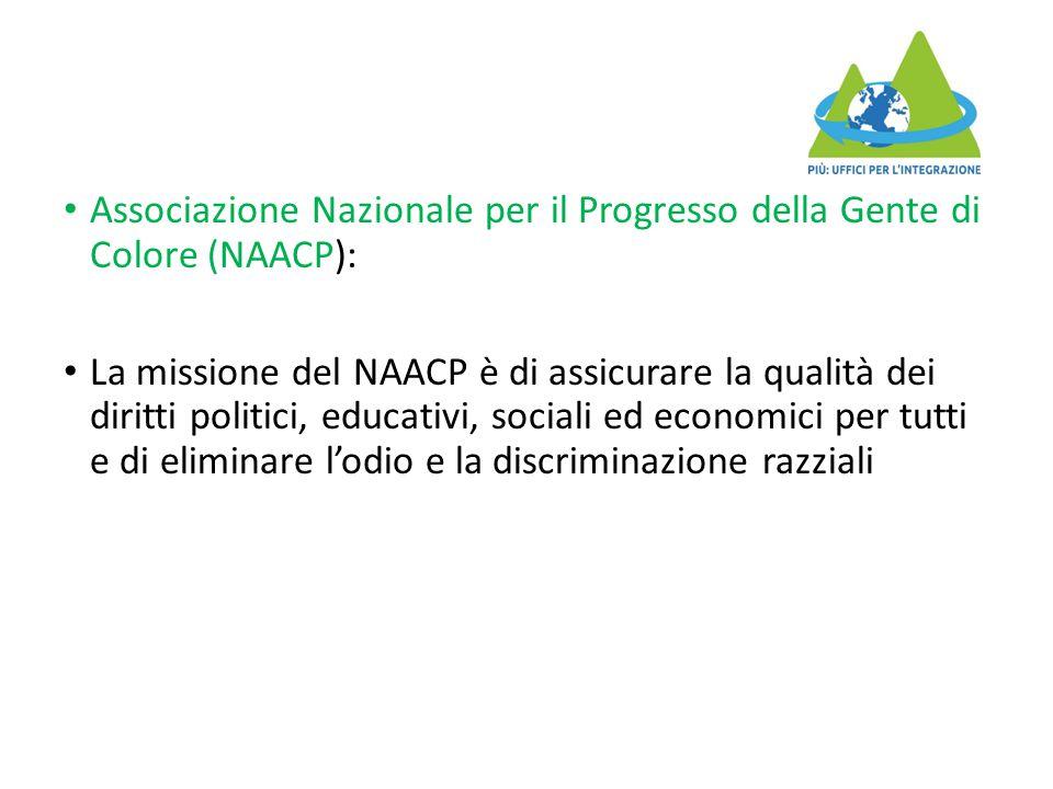 Associazione Nazionale per il Progresso della Gente di Colore (NAACP):