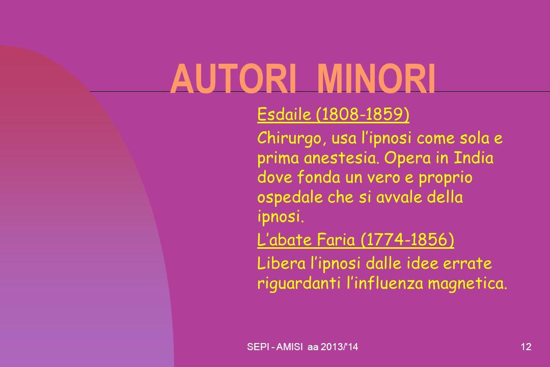 AUTORI MINORI Esdaile (1808-1859)