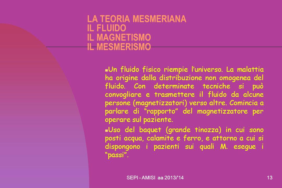 LA TEORIA MESMERIANA IL FLUIDO IL MAGNETISMO IL MESMERISMO