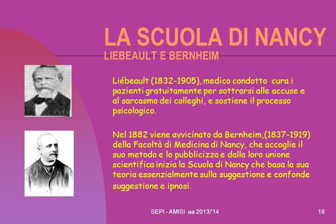 LA SCUOLA DI NANCY LIEBEAULT E BERNHEIM