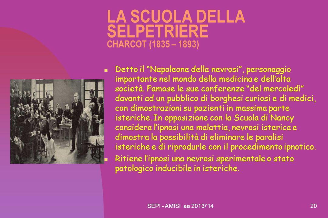 LA SCUOLA DELLA SELPETRIERE CHARCOT (1835 – 1893)